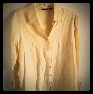 Yellow Linen Blouse